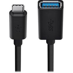 Кабель USB-C-USB-A (Belkin F2CU036btBLK) (черный)