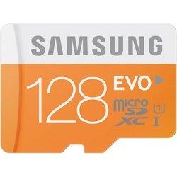 Карта памяти Samsung EVO microSDXC 128GB Class10 UHS-I + SD адаптер (MB-MP128DA/RU)