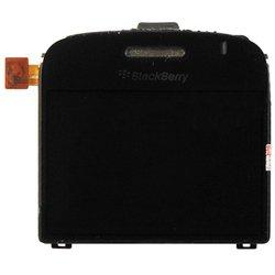 Дисплей для BlackBerry Bold 9000 с защитным стеклом (7684) (черный) 1-я категория