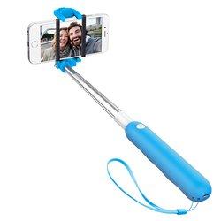 Монопод, палка для селфи с Bluetooth кнопкой для мобильных телефонов (Deppa 45002) (голубой)