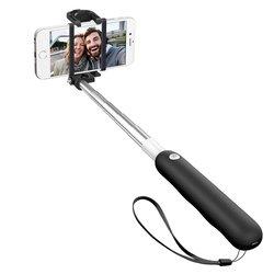 Монопод, палка для селфи с Bluetooth кнопкой для мобильных телефонов (Deppa 45003) (черный)
