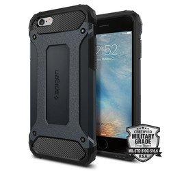 Чехол накладка для Apple iPhone 6, 6S (Spigen Tough Armor Tech SGP11743) (металлический)