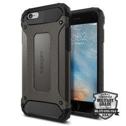 Чехол накладка для Apple iPhone 6, 6S (Spigen Tough Armor Tech SGP11742) (стальной)