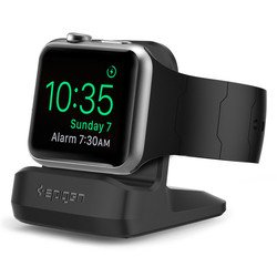 Подставка для Apple Watch 38,42 мм Spigen S350 Night Stand (SGP11584) (черный)