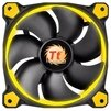 Thermaltake Riing 14 LED Yellow - Кулер, охлаждениеКулеры и системы охлаждения<br>Thermaltake Riing 14 LED Yellow - для корпуса, вентилятор 140 мм, 1000-1400 об/мин, 28.1 дБ<br>
