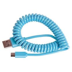 Кабель USB-microUSB (Smartbuy iK-12sp) (голубой)