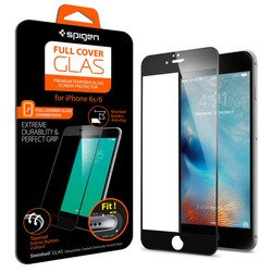 защитное стекло для apple iphone 6s (spigen screen protector full cover glass sgp11589) (черный)