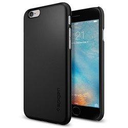 Чехол накладка для Apple iPhone 6, 6S (Spigen Thin Fit Series SGP11592) (черный)