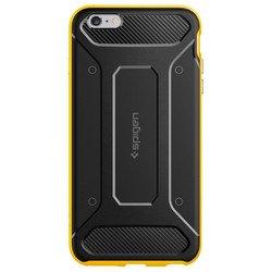 Чехол накладка для Apple iPhone 6 Plus, 6S Plus (Spigen Neo Hybrid Carbon SGP11667) (желтый)
