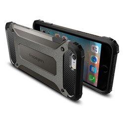 """Чехол накладка для Apple iPhone 6 Plus, 6s Plus 5.5"""" (Spigen Tough Armor Tech SGP11746) (стальной)"""