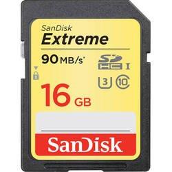 Карта памяти SDHC SanDisk Extreme 16Gb Class10 UHS-I (U3) (SDSDXNE-016G-GNCIN)
