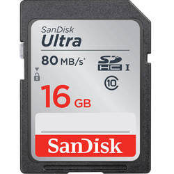 карта памяти sdhc sandisk ultra 16gb class10 uhs-i (sdsdunc-016g-gn6in)