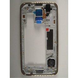 Средняя часть корпуса для Samsung Galaxy S5 G900F с боковыми клавишами и окном видеокамеры (96985) (золотистый) 1 категория