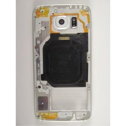 Средняя часть корпуса для Samsung Galaxy S6 G920 c боковыми клавишами (97006) (черный) 1 категория