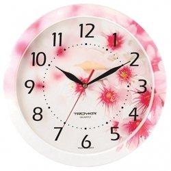 Часы настенные Тройка 11000019 (бело-розовые)