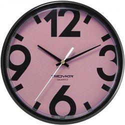 Часы настенные Тройка 91900917 (черно-розовый)