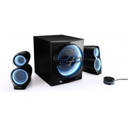 Microlab T10 (черный, синяя подсветка)