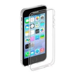 Чехол-накладка для Apple iPhone 5, 5S, SE (Deppa Gel Case 85200) (прозрачный) + защитная пленка