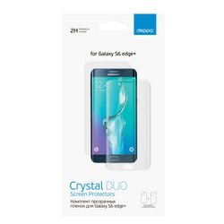 Защитная пленка для лицевой и задней панели для Samsung Galaxy S6 edge+ (Deppa 61401) (прозрачная)