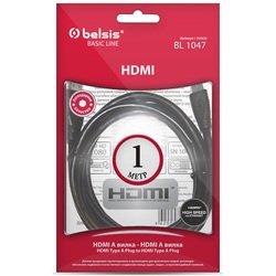 Кабель HDMI (m) - HDMI (m), 1м (Belsis BL1047) (черный)