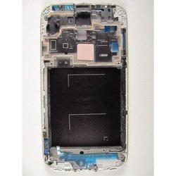 Рамка экрана для Samsung Galaxy S4 i9500 с шлейфом клавиши Home (97123) (серебристый)