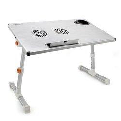 Столик с охлаждением для ноутбука CROWN CMLS-101 (CM000001326) (серебристый)