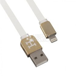 дата-кабель apple 8-pin lightning - usb для apple iphone 5, 5c, 5s, 6, 6 plus, ipad 4, air, air 2, mini 1, mini 2, mini 3 (0l-00002908) (плоский, белый)