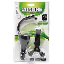 Универсальный автомобильный держатель для телефонов (2 USB 1A + 2A) (Carline  UMG2-SB) (черный)