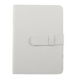 """Универсальный чехол-книжка для планшетов 7"""" (0L-00002029) (кожа, белый)"""