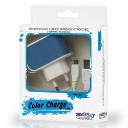 Универсальное сетевое зарядное устройство Smartbuy Color Charge Combo (SBP-8070) (синий)