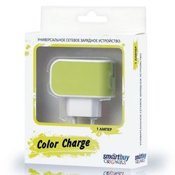 Универсальное сетевое зарядное устройство Smartbuy Color Charge (SBP-8020) (желтый)