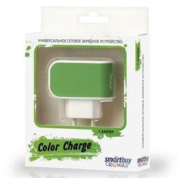 Универсальное сетевое зарядное устройство Smartbuy Color Charge (SBP-8040) (зеленый)