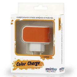 Универсальное сетевое зарядное устройство Smartbuy Color Charge (SBP-8050) (оранжевый)