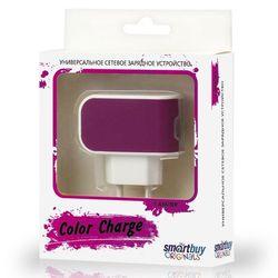 Универсальное сетевое зарядное устройство Smartbuy Color Charge (SBP-8030) (фиолетовый)