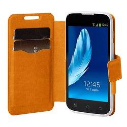 """Универсальный чехол-книжка для телефонов 4.2-5"""" (iBox Universal YT000007473) (оранжевый)"""