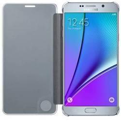 чехол-книжка для samsung galaxy note 5 (clear view cover ef-zn920csegru) (серебристый)