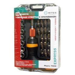 Отвертка с набором насадок и головок 5bites Express TK042