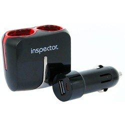 Разветвитель прикуривателя на 2 гнезда + 1 USB (Inspector AW-Z45) (черный)