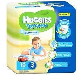 Huggies трусики для мальчиков 3 (7-11 кг) 19 шт.
