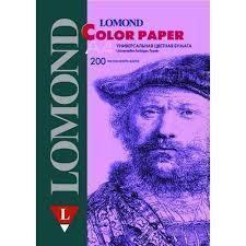 Офисная цветная бумага A4 (200 листов) (Lomond 1004212) (сиреневый)