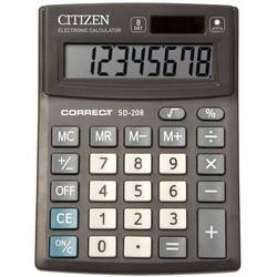 Калькулятор настольный Citizen Correct SD-208 (черный)
