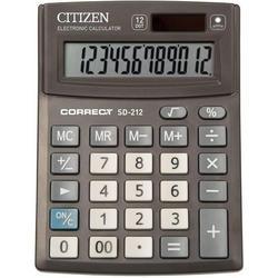 Калькулятор настольный Citizen Correct SD-212 (черный)