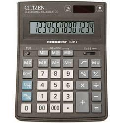 Калькулятор настольный Citizen Correct D-314 (черный)