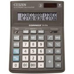 Калькулятор настольный Citizen Correct D-316 (черный)