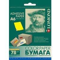 Самоклеящаяся бумага универсальная A6 (50 листов) (Lomond 2043005) (неоновый желтый)