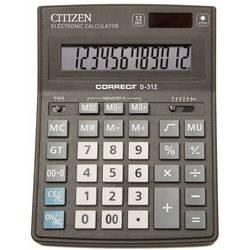 Калькулятор настольный Citizen Correct D-312 (черный)