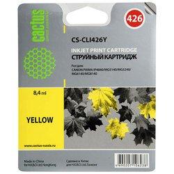 Картридж для Canon Pixma IP4840, MG5140, 5240, MG6140, 8140 Cactus CS-CLI426Y (желтый)