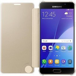 чехол-книжка для samsung galaxy a5 (2016) a510 (clear view cover ef-za510cfegru) (золотистый)
