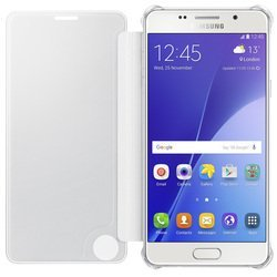 чехол-книжка для samsung galaxy a5 (2016) a510 (clear view cover ef-za510csegru) (серый)