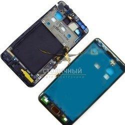 Передняя панель корпуса для Samsung Galaxy S2 i9100 в сборе со шлейфом (46222) (черный)